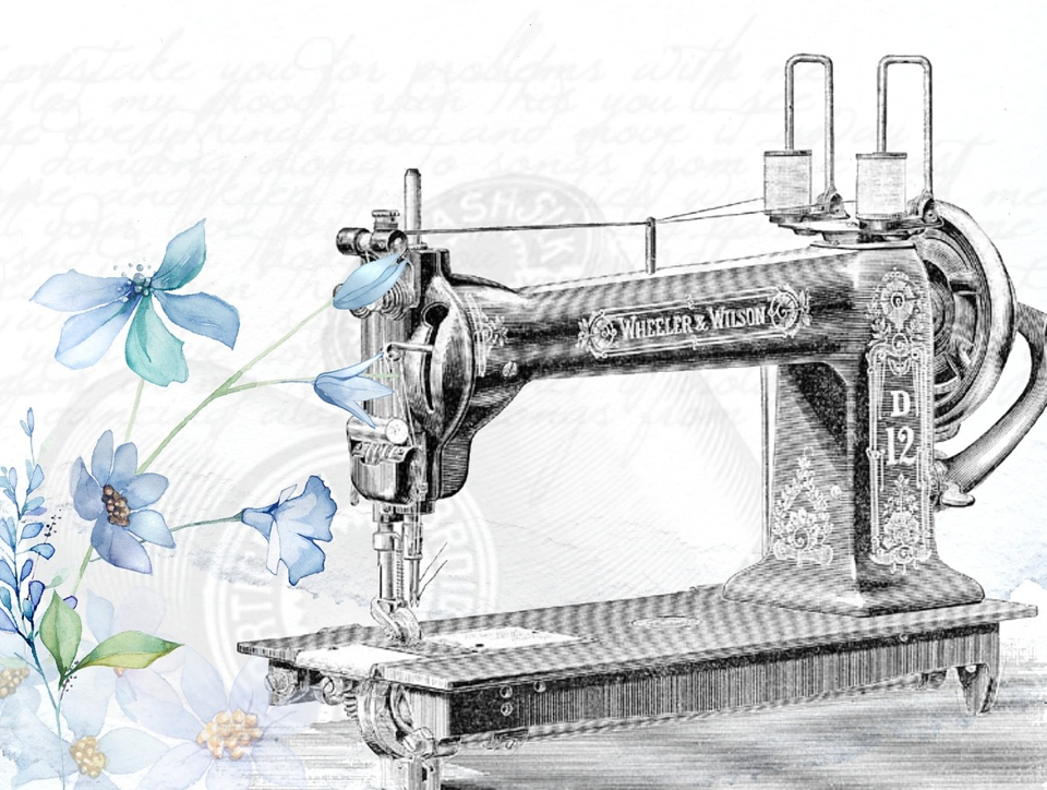 Vintage Sewing Machine Pixabay